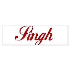 Singh name Sticker (Bumper)