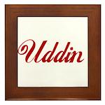 Uddin name Framed Tile