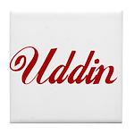 Uddin name Tile Coaster