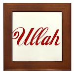 Ullah name Framed Tile
