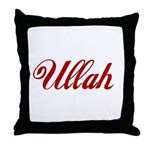 Ullah name Throw Pillow