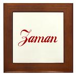 Zaman name Framed Tile
