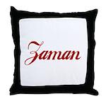 Zaman name Throw Pillow