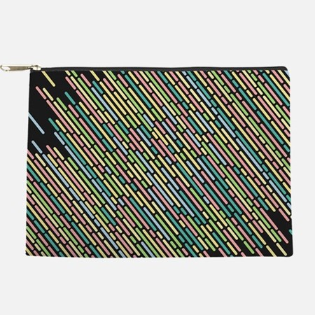 Colorful stripes lines vintage retro Makeup Bag