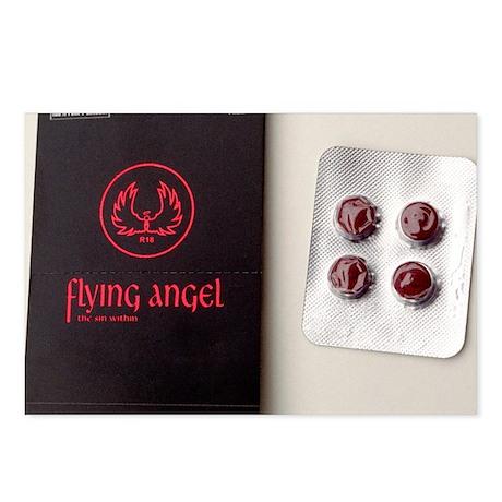 'Flying angel' pills - Postcards (Pk of 8)
