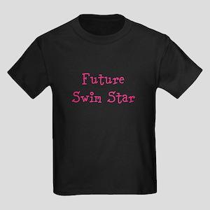 Future Swim Star Girl Kids Dark T-Shirt