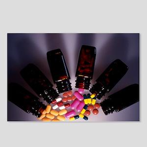 Assorted pills - Postcards (Pk of 8)