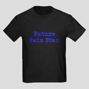 Future Swim Star Boys Blue Kids Dark T-Shirt
