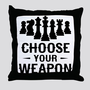 Chess Choose Your Weapon Throw Pillow