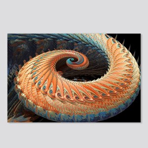 Dragon tail fractal - Postcards (Pk of 8)