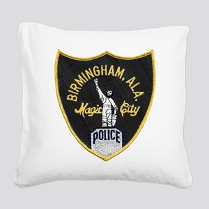 Birmingham Police patch Square Canvas Pillow