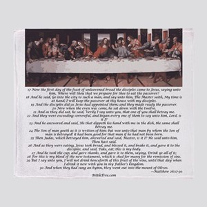 Matthew-26:17-30 The Last Supper Throw Blanket