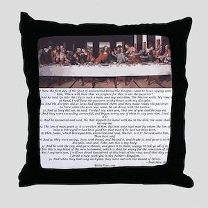 Matthew-26:17-30 The Last Supper Throw Pillow