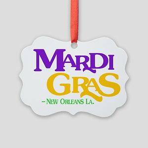 Mardi Gras Picture Ornament