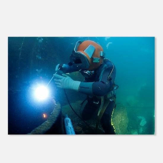 Commercial diver welding - Postcards (Pk of 8)