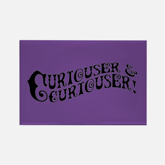 Curiouser And Curiouser Rectangle Magnet