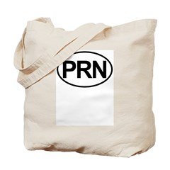 PRN As Needed Medical Oval Tote Bag