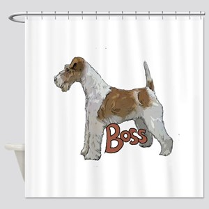 Wirehaired Fox Terrier Shower Curtain