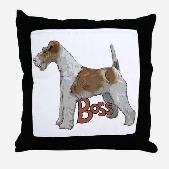 Wirehaired Fox Terrier Throw Pillow