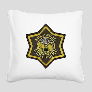 Arkansas SP patch Square Canvas Pillow