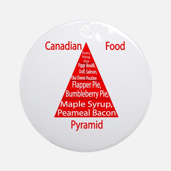 Canadian Food Pyramid Ornament (Round)