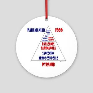 Panamanian Food Pyramid Ornament (Round)