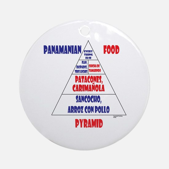 Panamanian Food Pyramid Ornament (Round)