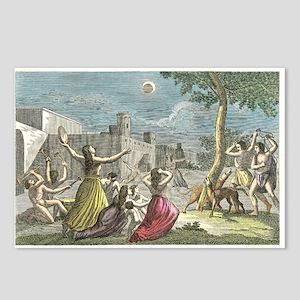 Solar eclipse, Peru, artwork - Postcards (Pk of 8)