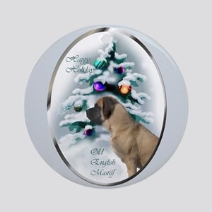 English Mastiff Christmas Round Ornament