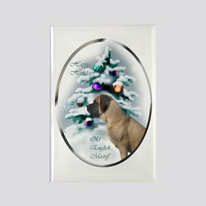 English Mastiff Christm Rectangle Magnet (10 pack)