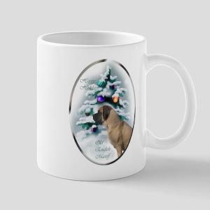 English Mastiff Christmas 11 oz Ceramic Mug