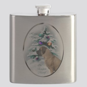 English Mastiff Christmas Flask