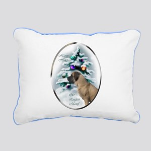 English Mastiff Christma Rectangular Canvas Pillow