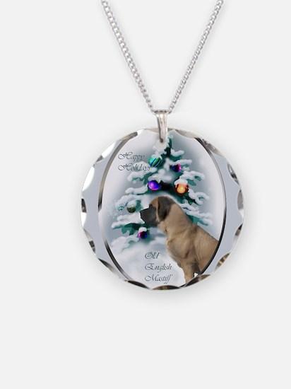 English Mastiff Christmas Necklace