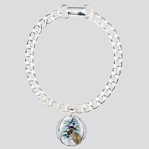 English Mastiff Christma Charm Bracelet, One Charm