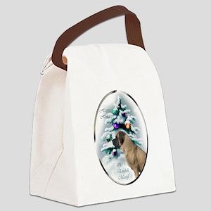 English Mastiff Christmas Canvas Lunch Bag