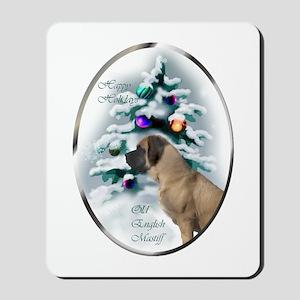 English Mastiff Christmas Mousepad