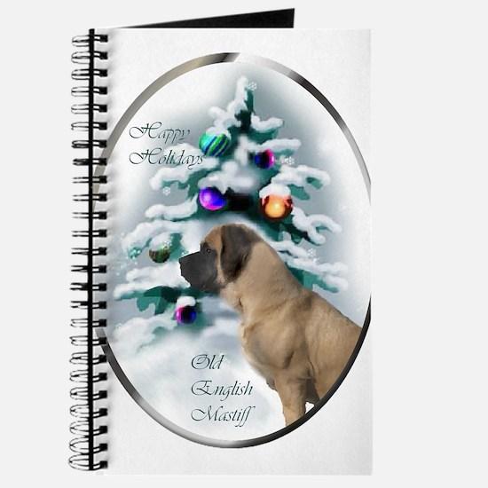 English Mastiff Christmas Journal