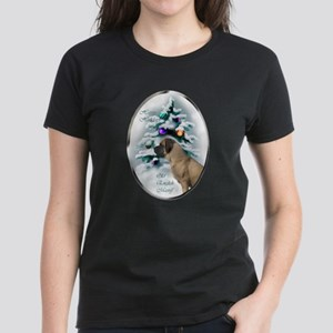 English Mastiff Christmas Women's Dark T-Shirt