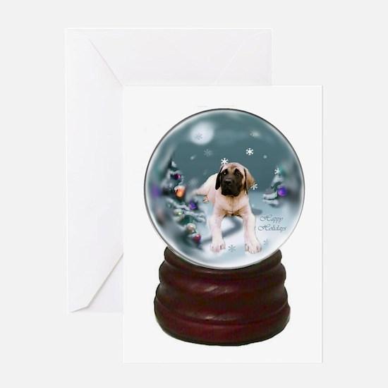 English Mastiff Christmas Greeting Card
