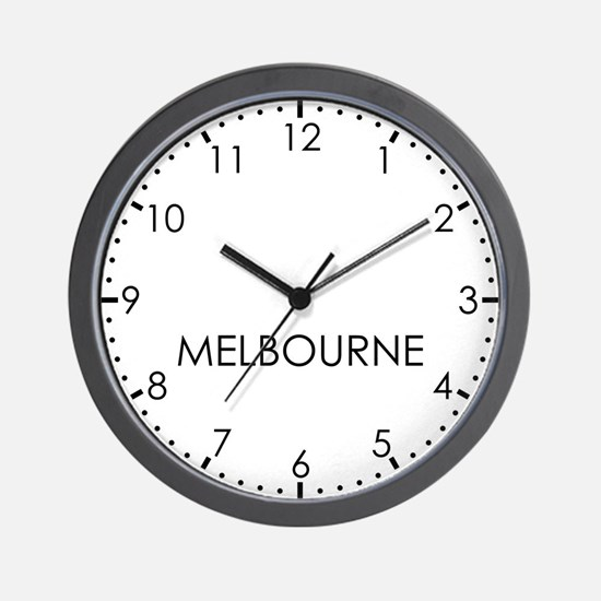 MELBOURNE Modern Newsroom Wall Clock