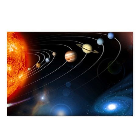Solar system planets - Postcards (Pk of 8)