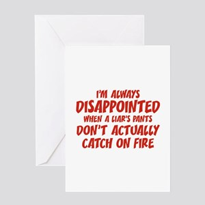 Liar Liar Pants On Fire Greeting Card