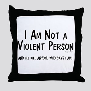 Non-Violent Throw Pillow