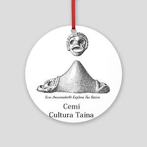 Cemi Taino Ornament (Round)