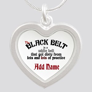 The Black Belt is Silver Heart Necklace