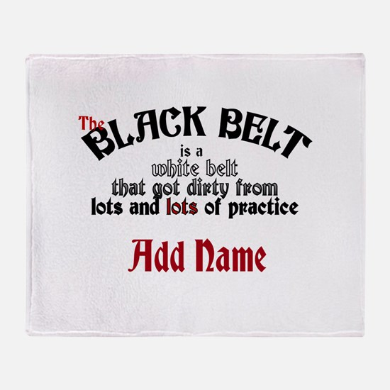 The Black Belt is Throw Blanket