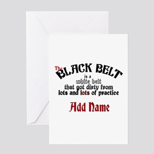 The Black Belt is Greeting Card