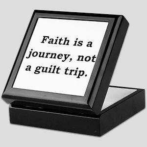 Faith Is A Journey - Anonymous Keepsake Box