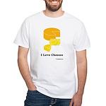 I Love Cheeses White T-Shirt